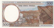 Etats de l\'Afrique Centrale 500 Francs 1994 - Jeune homme, zébus, antilopes - L = Gabon