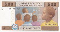 Etats de l\'Afrique Centrale 500 Francs 2002 - Enfant, école, village - U = Cameroun