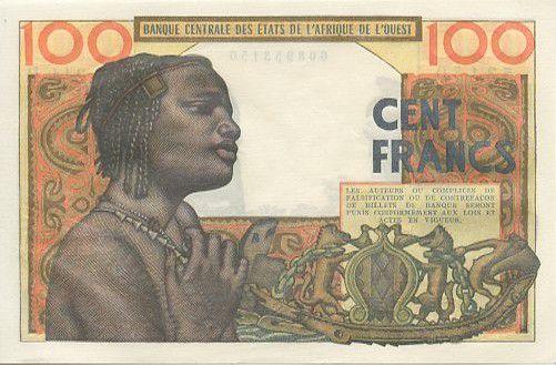 Etats de l´Afrique de l´Ouest 100 Francs Masque