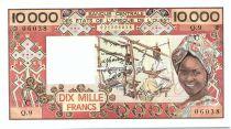 Etats de l´Afrique de l´Ouest 10000 Francs Burkina Faso - Tissage - 1978 C Série Q.9