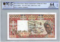 Etats de l´Afrique de l´Ouest 10000 Francs Mali - Tissage - 1981 - PCGS UNC 64 OPQ