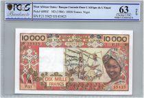 Etats de l´Afrique de l´Ouest 10000 Francs Niger - Tissage - 1984 - PCGS UNC 63 OPQ