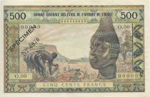 Etats de l´Afrique de l´Ouest 500 Francs Agriculture