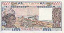 Etats de l´Afrique de l´Ouest 5000 Francs Pirogues de pêche