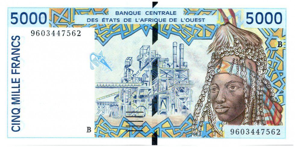 Etats de l´Afrique de l´Ouest 5000 Francs Usine - Poterie