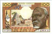Etats de l´Afrique Equatoriale 100 Francs Africain, case - Eléphants - 1963 - Lettre A