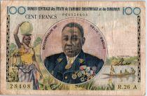 Etats de l´Afrique Equatoriale 100 Francs Félix Eboué - 1961 - Lettre A