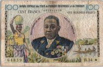 Etats de l´Afrique Equatoriale 100 Francs Félix Eboué - 1961