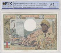 Etats de l´Afrique Equatoriale 10000 Francs Bokassa - 1968 Spécimen PCGS 62