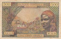 Etats de l\'Afrique Equatoriale 500 Francs 1963 - Rép. Centrafricaine (Lettre B) - Série W.13 B