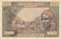 Etats de l\'Afrique Equatoriale 500 Francs 1963 - Rép. Centrafricaine (Lettre B) - Série Y.7 B