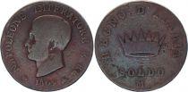 Etats Italiens 1 Soldo - Napoléon I -1809 M