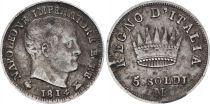 Etats Italiens 5 Soldi - Napoléon I  - 1814 M