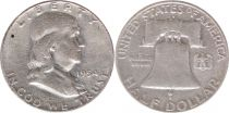 Etats Unis d´Amérique 1/2 Dollar Benjamin Franklin - Liberty Bell - 1954