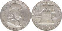 Etats Unis d´Amérique 1/2 Dollar Benjamin Franklin - Liberty Bell - 1962 - 2ième ex.