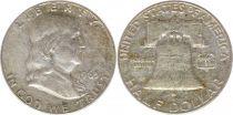 Etats Unis d´Amérique 1/2 Dollar Benjamin Franklin - Liberty Bell - 1963 - 2ième ex.