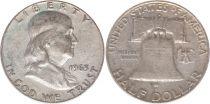 Etats Unis d´Amérique 1/2 Dollar Benjamin Franklin - Liberty Bell - 1963 - 4ième ex.