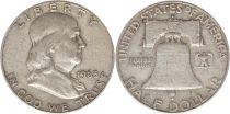Etats Unis d´Amérique 1/2 Dollar Benjamin Franklin - Liberty Bell - 1963 - 5ième ex.