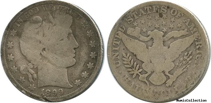 Etats Unis d´Amérique 1/2 Dollar Liberty, Barber