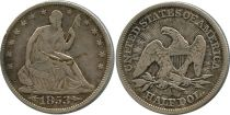 Etats Unis d´Amérique 1/2 Dollar Liberty assise - Aigle - 1853