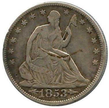 Etats Unis d´Amérique 1/2 Dollar Liberty assise - Aigle - 1853