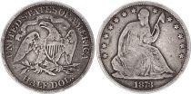 Etats Unis d´Amérique 1/2 Dollar Liberty assise - Aigle - 1873