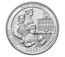 Etats Unis d´Amérique 1/4 Dollar  Ellis Island - P Philadelphie - 2017