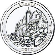 Etats Unis d´Amérique 1/4 Dollar Acadia Park