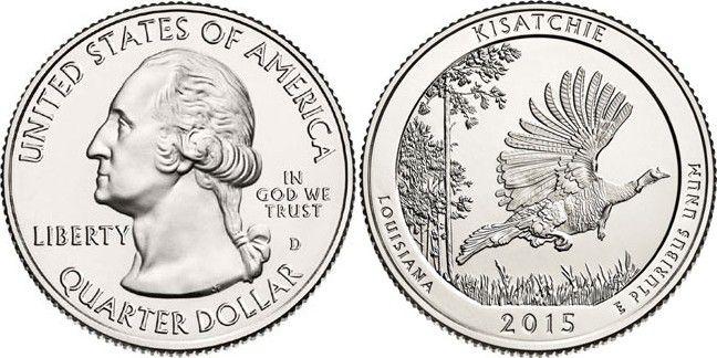 Etats Unis d´Amérique 1/4 Dollar Kisatchie - 2015 D Denver