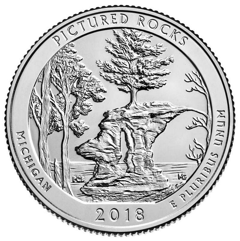 Etats Unis d´Amérique 1/4 Dollar Pictured Rocks - P Philadelphie - 2018