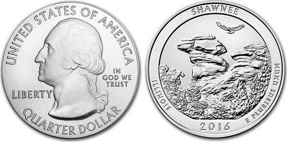 Etats Unis d´Amérique 1/4 Dollar Shawnee National Forest - 2016 D Denver