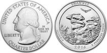 Etats Unis d´Amérique 1/4 Dollar Shawnee National Forest - 2016 P Philadelphie