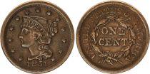 Etats Unis d´Amérique 1 Cent Liberté - 1851