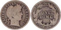Etats Unis d´Amérique 1 Dime Barber  années variées 1892-1916