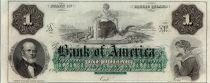 Etats Unis d´Amérique 1 dollar, Bank of América, Providence - 1860 - Lettre A