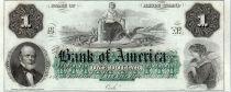 Etats Unis d´Amérique 1 dollar, Bank of América, Providence - 1860 - Lettre B