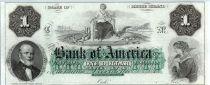Etats Unis d´Amérique 1 dollar, Bank of América, Providence - 1860 - Lettre C