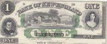 Etats Unis d´Amérique 1 Dollar 18xx - Personnages, bâteau sur rivière - Bank of New-England