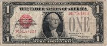 Etats Unis d´Amérique 1 Dollar 1928 Washington, red seal, silver certificate
