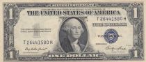 Etats Unis d\'Amérique 1 Dollar 1935E - Washington, tampon bleu, silver certificate