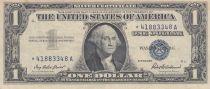 Etats Unis d\'Amérique 1 Dollar 1957 - Washington, tampon bleu, silver certificate, étoile