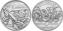 Etats Unis d´Amérique 1 Dollar Centenaire  1ère Guerre Mondiale 1918-2018 - P Philadelphie Argent