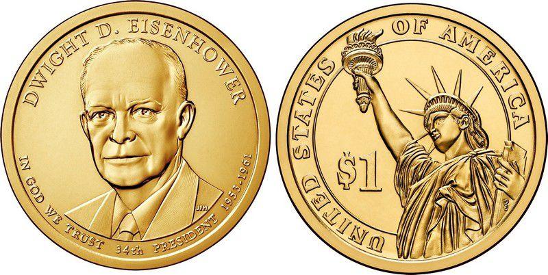 Etats Unis d´Amérique 1 Dollar D. Eisenhower - 2015 D Denver