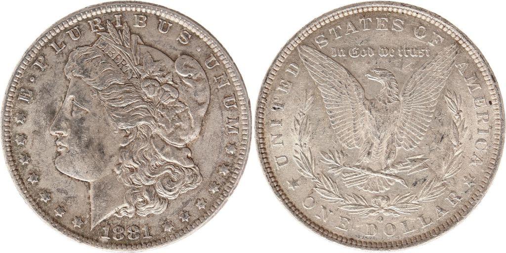 Etats Unis d\'Amérique 1 Dollar Morgan - Aigle 1881 O Nouvelle-Orleans - Argent