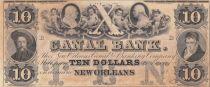 Etats Unis d´Amérique 10 Dollars Canal Bank 18xx - Personnages, chérubins - Série B