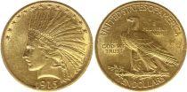 Etats Unis d\'Amérique 10 Dollars Tête Indien - Aigle 1915 Or