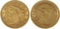 Etats Unis d\'Amérique 2 1/2 Dollars, Liberty - Aigle 1878 - Or