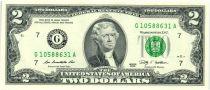 Etats Unis d´Amérique 2 Dollars Jefferson - 2009 G7 Chicago