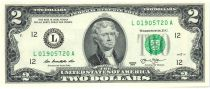 Etats Unis d´Amérique 2 Dollars Jefferson - 2013 L12 San Francisco