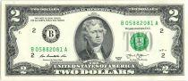 Etats Unis d´Amérique 2 Dollars Jefferson - Indépendance 1776 - 2013 B2 New York